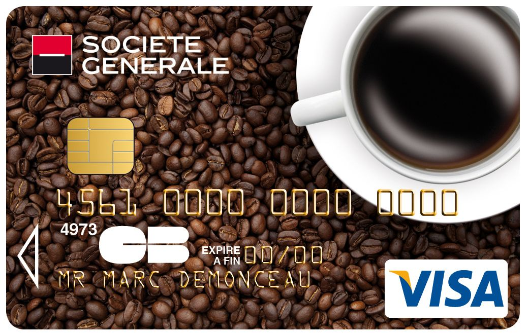 Carte Collection Visa Societegenerale Parfumee Au Cafe