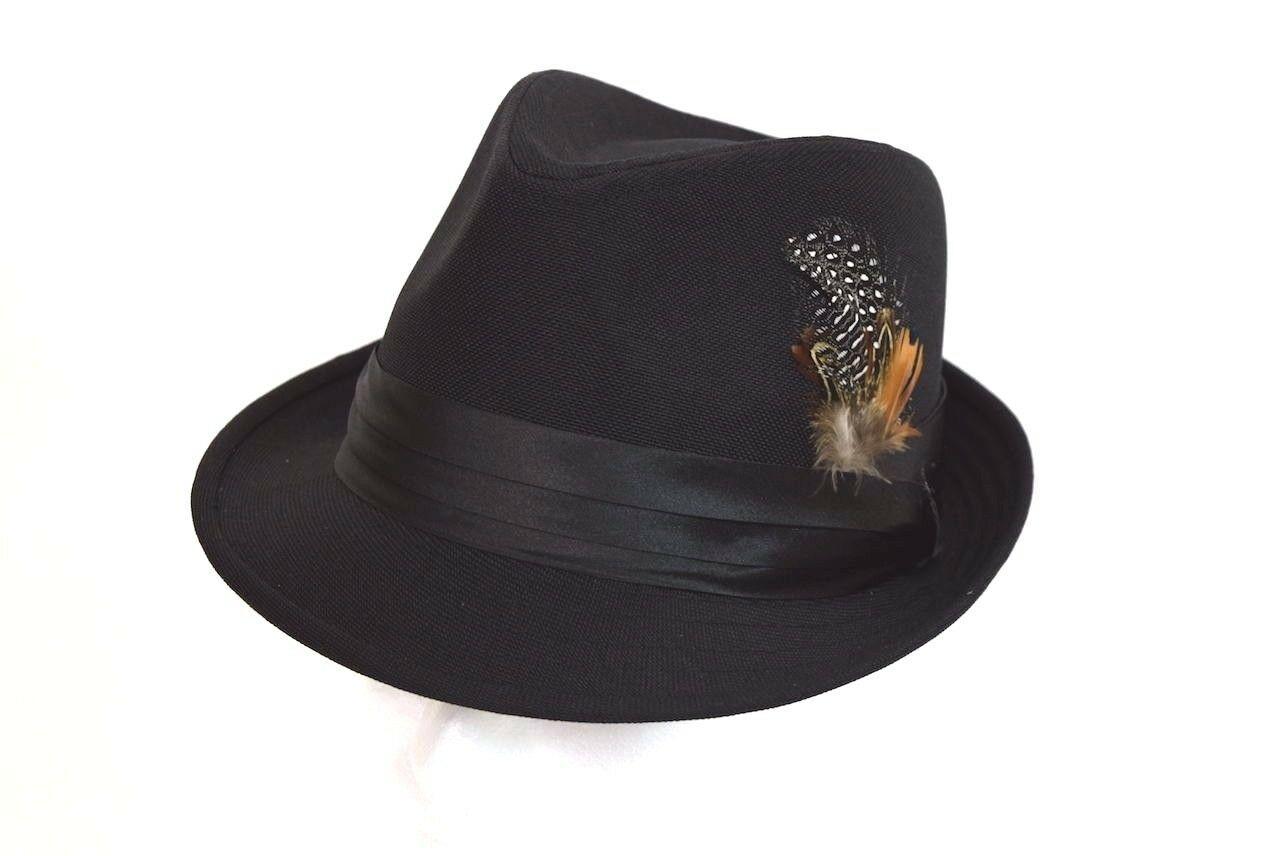 f22f2294 Men's Fedora Dress Hat Cuban Style Casual Upturn Short Brim Rust Wool Blend