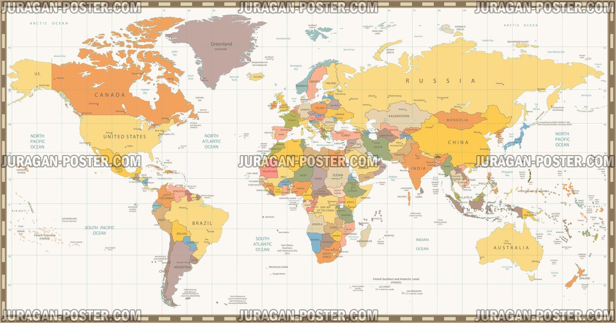 Jual Peta dunia ukuran besar info lebih lanjut klik pada gambar ...