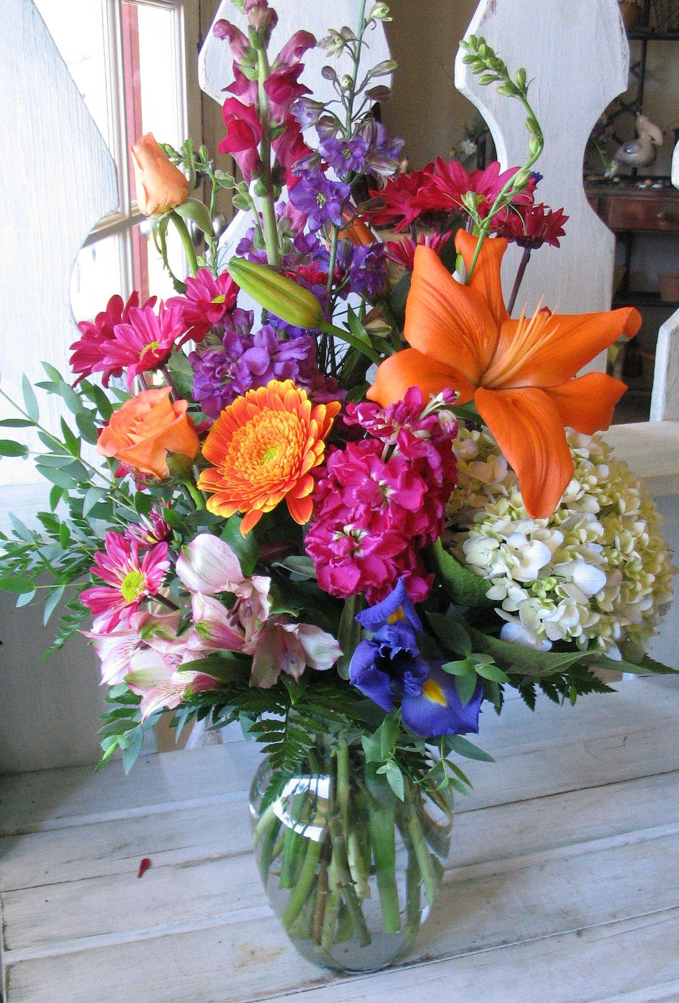 colorful flower arrangements Google Search Colorful