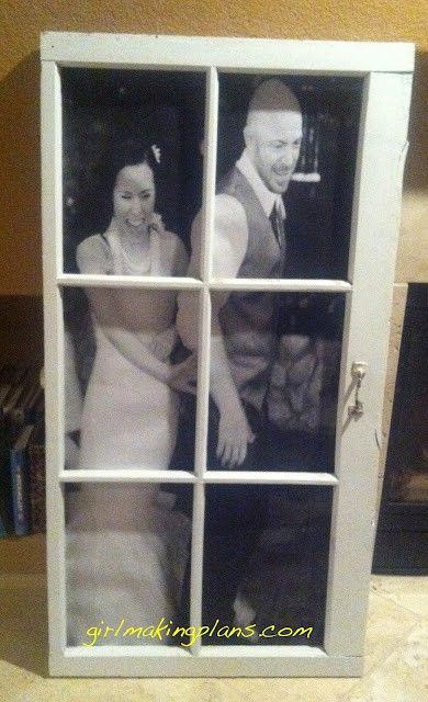old window turned into a picture frame - Staples engineering print ...