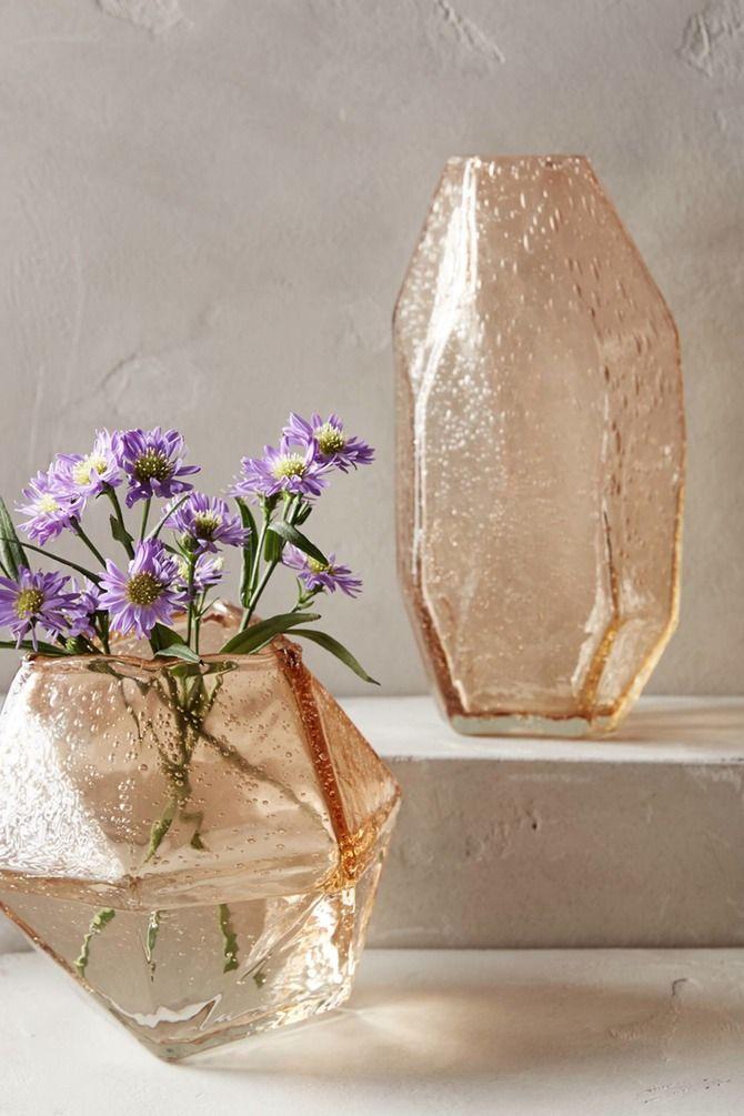 Blush geometric vase