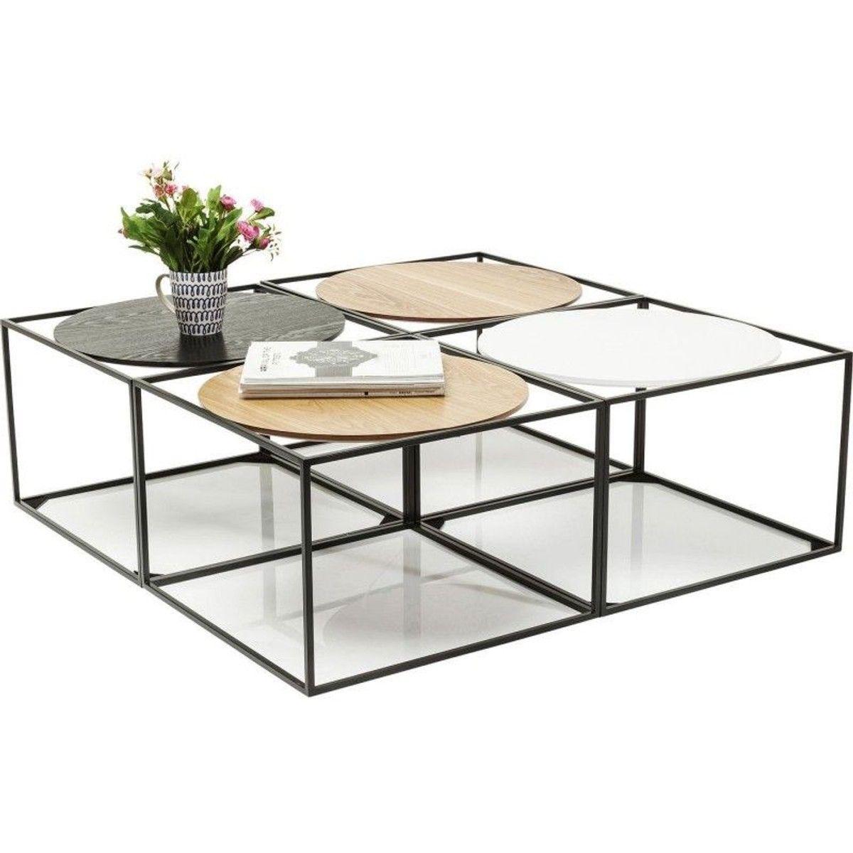 Table Basse Kare Design.Table Basse Quattro Circles 100x100cm Kare Design Taille