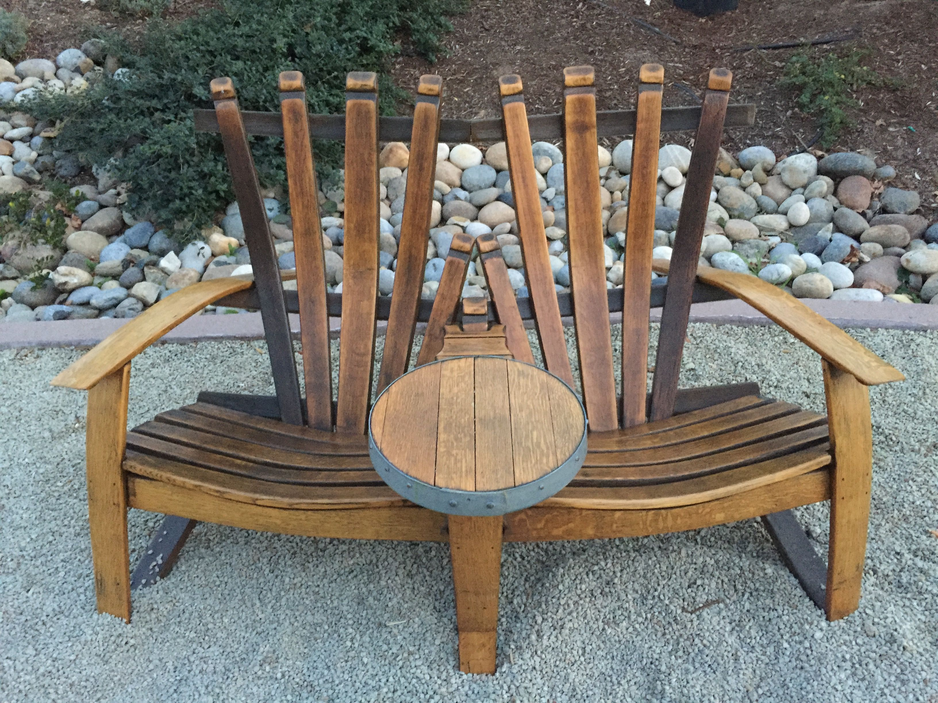 Wine Barrel Double Adirondack Chair For S Tasting In Paso Robles Pasorobles Winebarrel