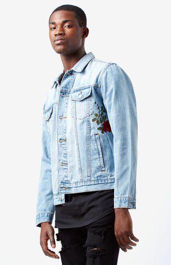 Rose Denim Trucker Jacket From Pacsun Menswear Jackets Denim