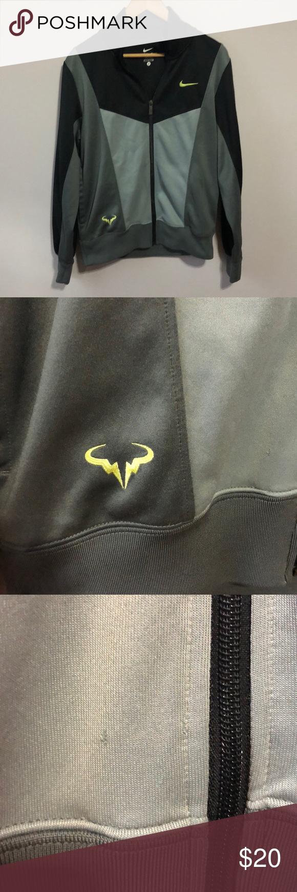 c7cdd3ade1eb Nike Dri-Fit Men s Small Black Gray Track Jacket EUC Nike Track Jacket. Only