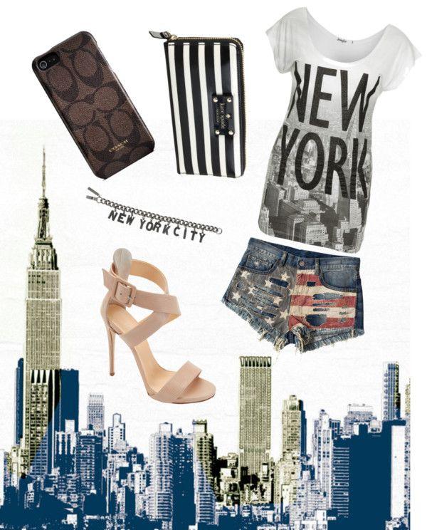 """""""I 3 NY"""" by claramartellani ❤ liked on Polyvore"""