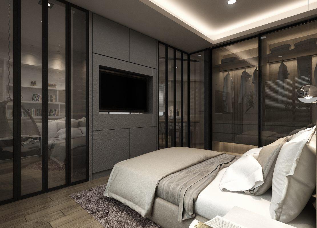 schlafzimmer modern gestalten weißes bett creme wandfarbe | ideas, Schlafzimmer entwurf