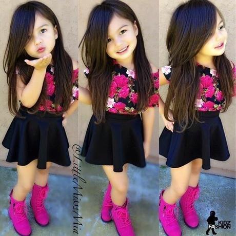 9fc397347 Como vestir a niñas de 2 a 10 años | Niñas Diciembre | Outfits niños ...