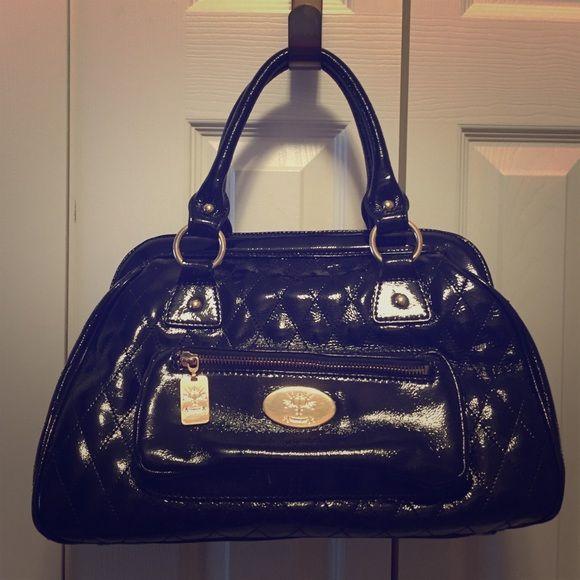 5a58ab8d2a Christine Price black patent handbag