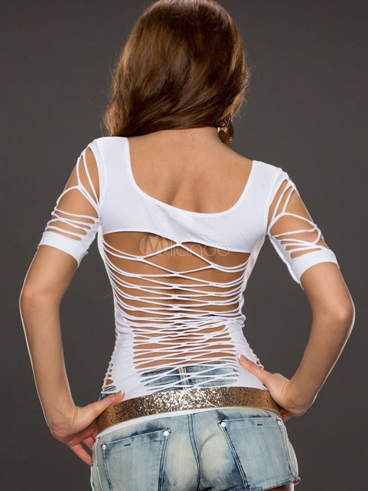 a59b9bafd6254 Cut Out Clubwear Tops - Milanoo.com