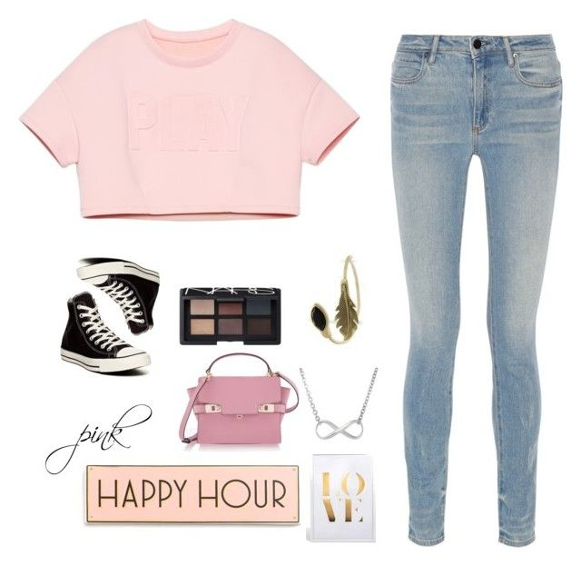 """""""pink!"""" by itzcandyz ❤ liked on Polyvore featuring Alexander Wang, Converse, NARS Cosmetics, Henri Bendel, Rosanna, women's clothing, women, female, woman and misses"""