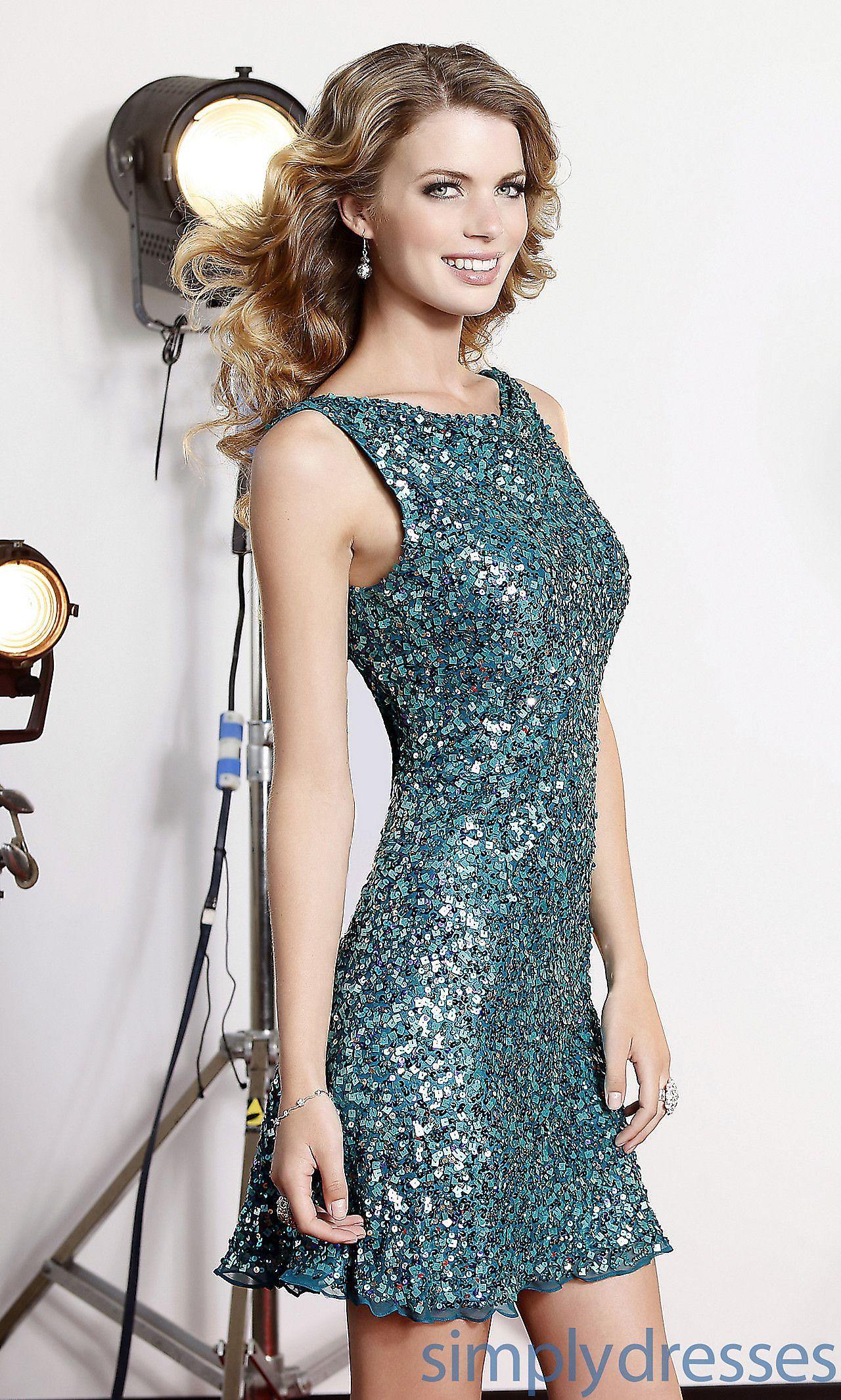 Dresses, Formal, Prom Dresses, Evening Wear: Short High Neck Open ...