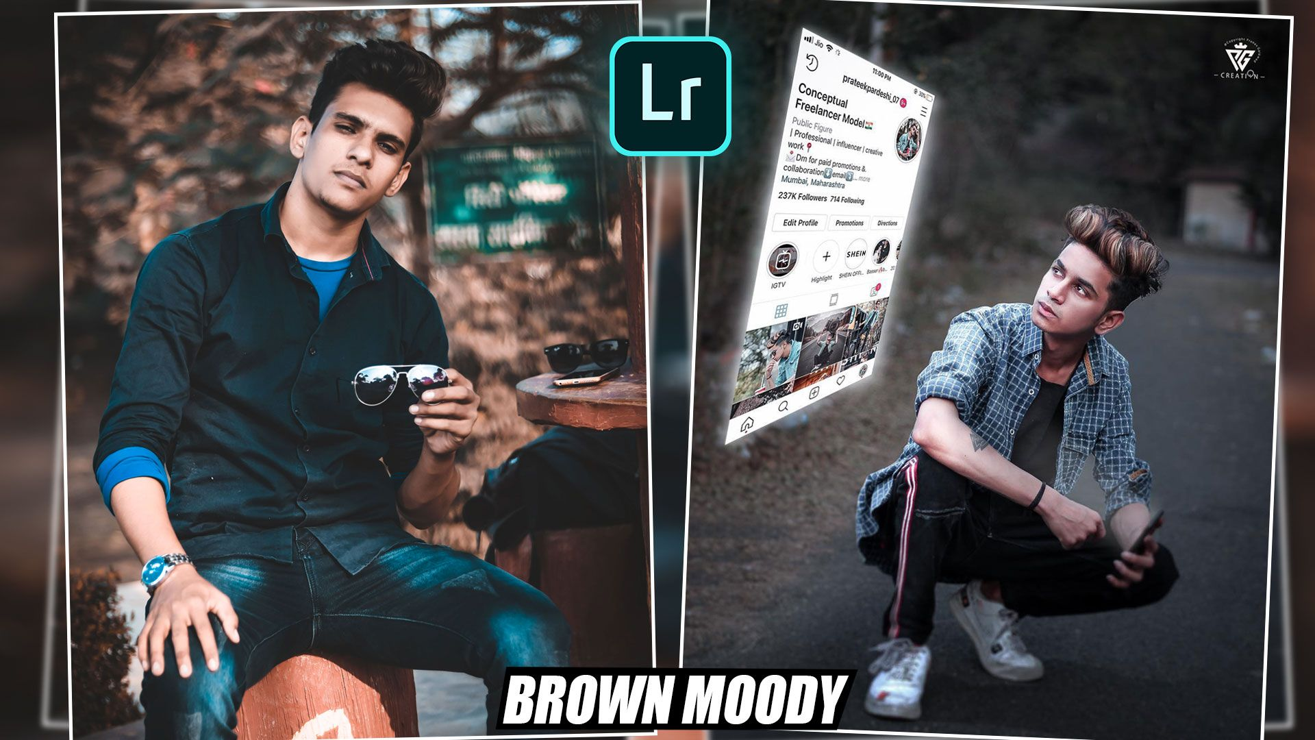 Lightroom CC Mobile Brown Moody Preset Download for Mobile