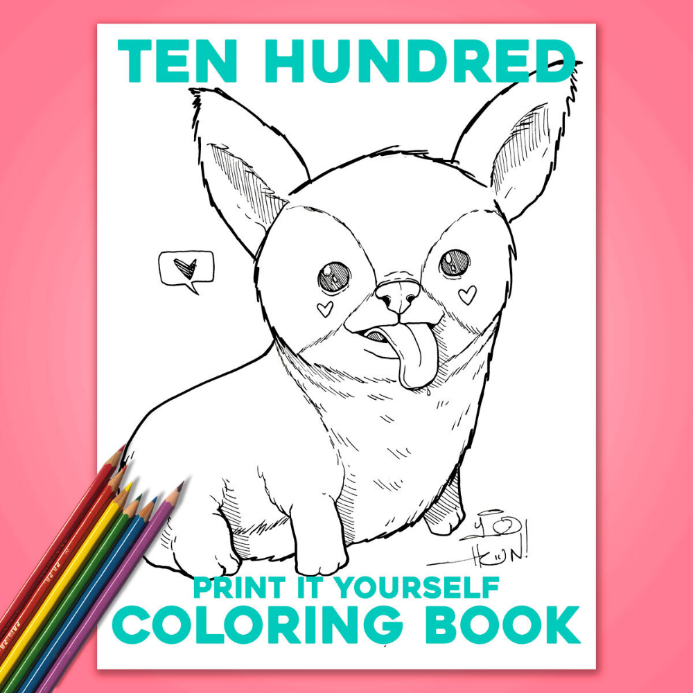 Coloring Book Free Print It Yourself Digital Download Ten Hundred Coloring Books Free Prints Prints