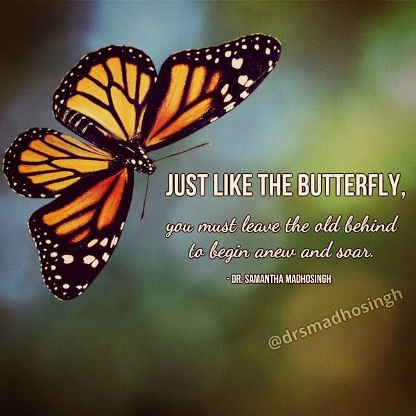 Just Like The Butterfly You Must Leave The Old Behind To Begin Anew And Soar Dr Samantha Madhosingh Butterfly Quotes Butterfly Pictures Meant To Be Quotes