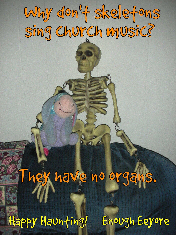 Eeyore, Halloween corny jokes, puns, funny / Why don't