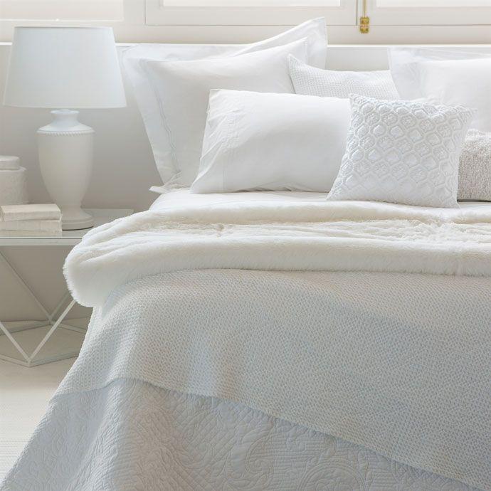 couvre lit et housse de coussin coton treillage couvre lits lit zara home canada couette. Black Bedroom Furniture Sets. Home Design Ideas