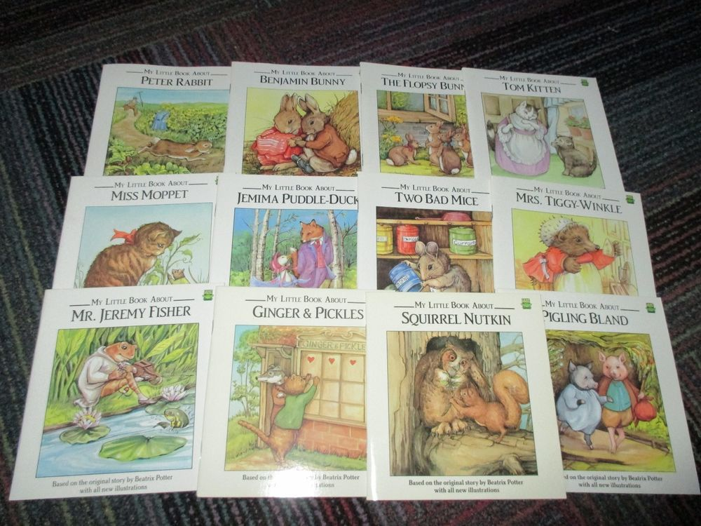 """""""MY LITTLE BOOK ABOUT"""" 12 SOFTCOVER STORY BOOK SET BY BEATRIX POTTER, CLASSICS"""