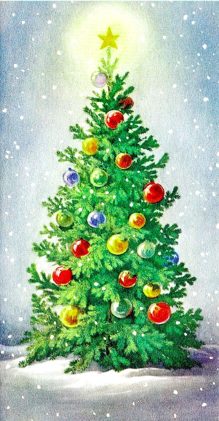 Untitled Christmas Tree Painting Paintings Greetings