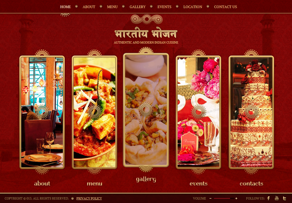 Authentic & Modern Indian Restaurant HTML5 Template by Dynamic Template