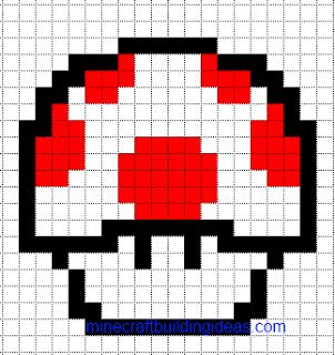 Minecraft pixel art templates mario health mushroom drawings minecraft pixel art templates mario health mushroom pronofoot35fo Image collections