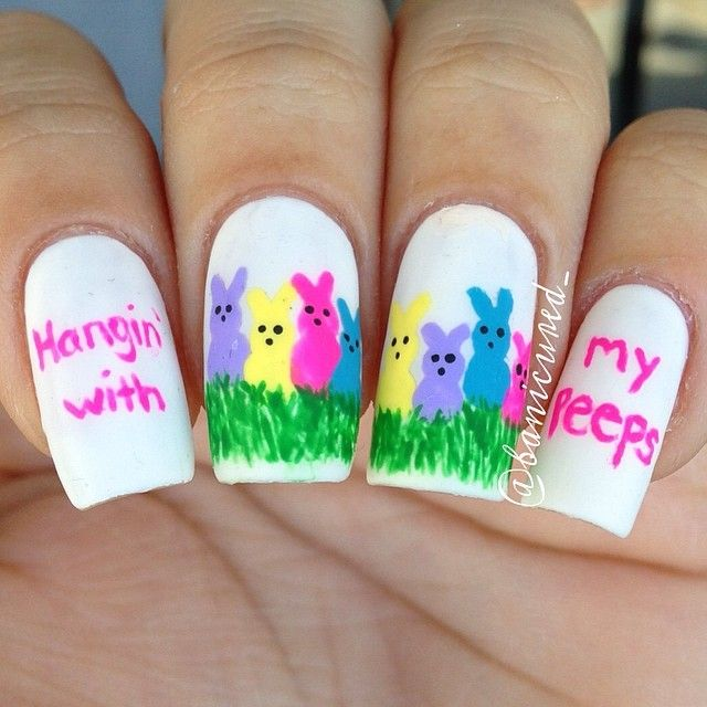banicured_ easter #nail #nails #nailart
