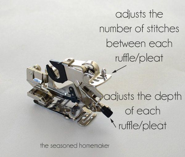 Sewing Machine Feet:: The Ruffler
