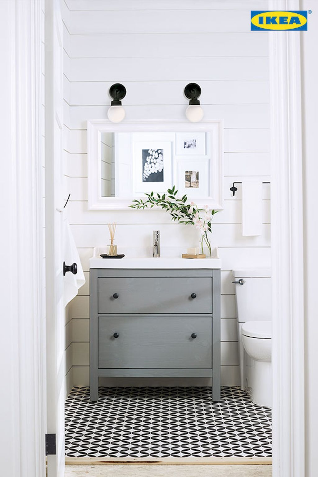 60 Cool Farmhouse Powder Room Design Ideas With Rustic | dream house ...