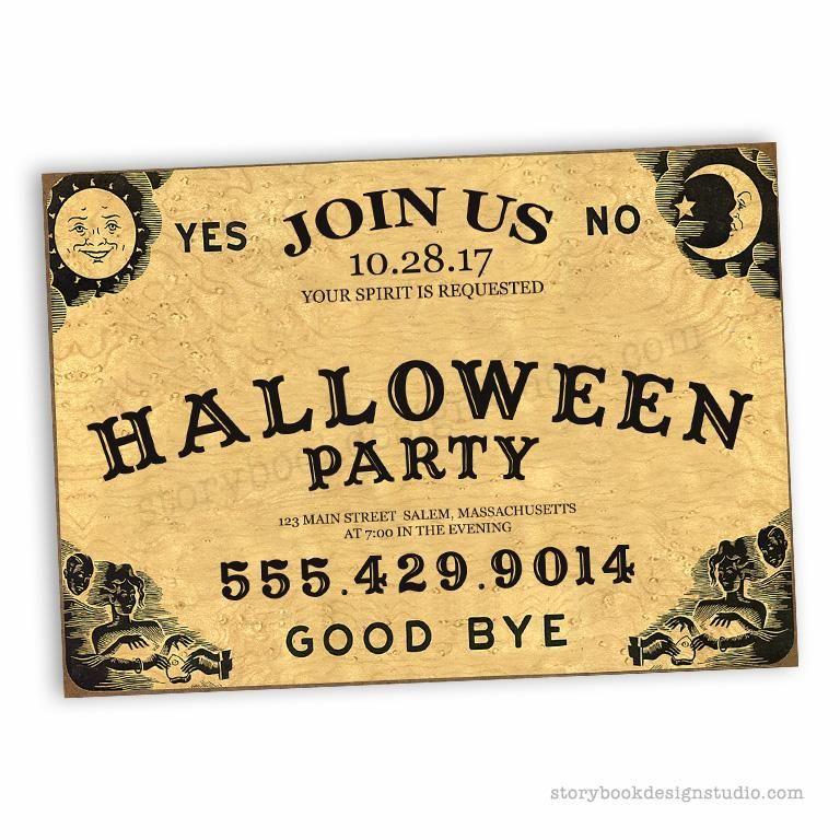 Quija Board Halloween Party Invitations Halloween party