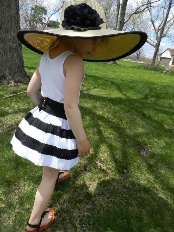 Black and white short skirt for little by DandelionsandWishes, $25.00