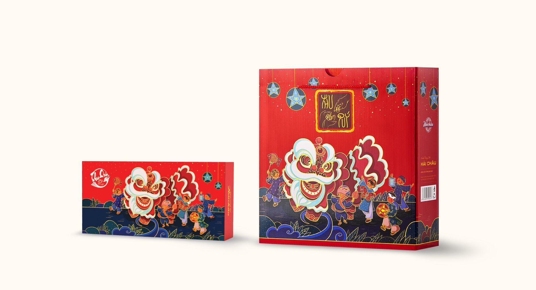 Packaging Design For Hai Chau S Mid Autumn Mooncake 2019 World Brand Design Packaging Design Brand Strategy Design Creative Packaging Design