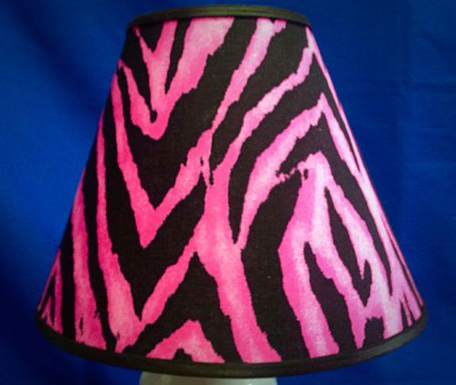 Hot Pink Zebra Print Handmade Lampshade Lamp Shade Hot Pink