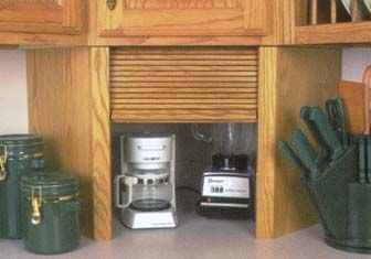 Unfinished Wood Appliance Garages Corner Units And