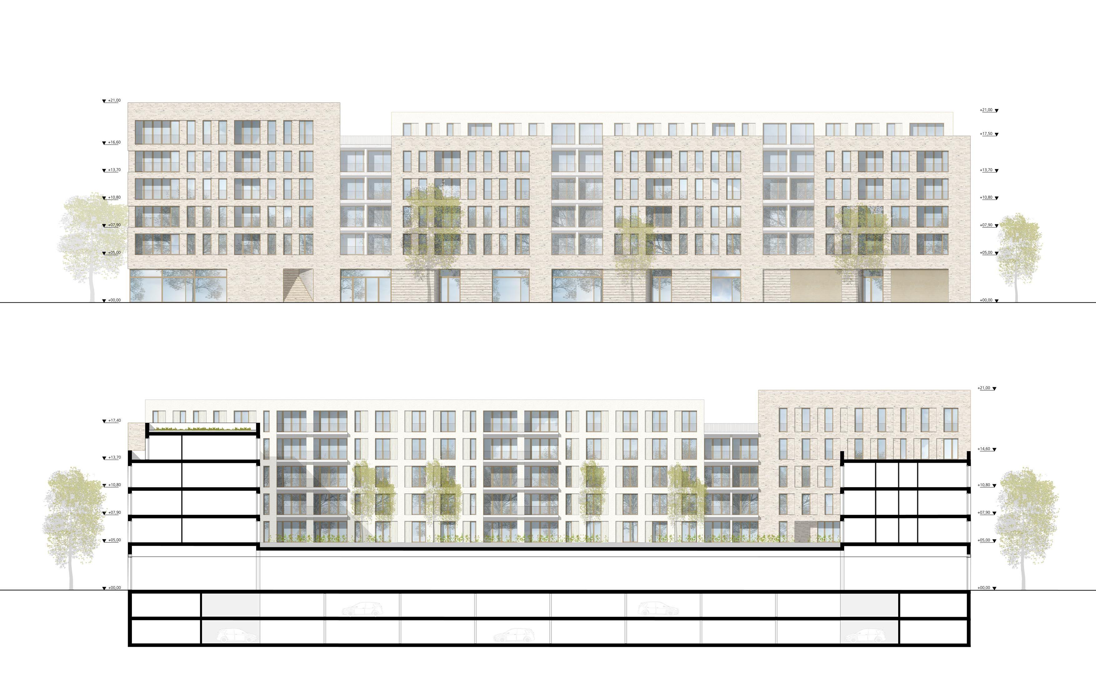 Ansicht Architektur ein 2 preis zur realisierung empfohlen nach überarbeitung ansicht