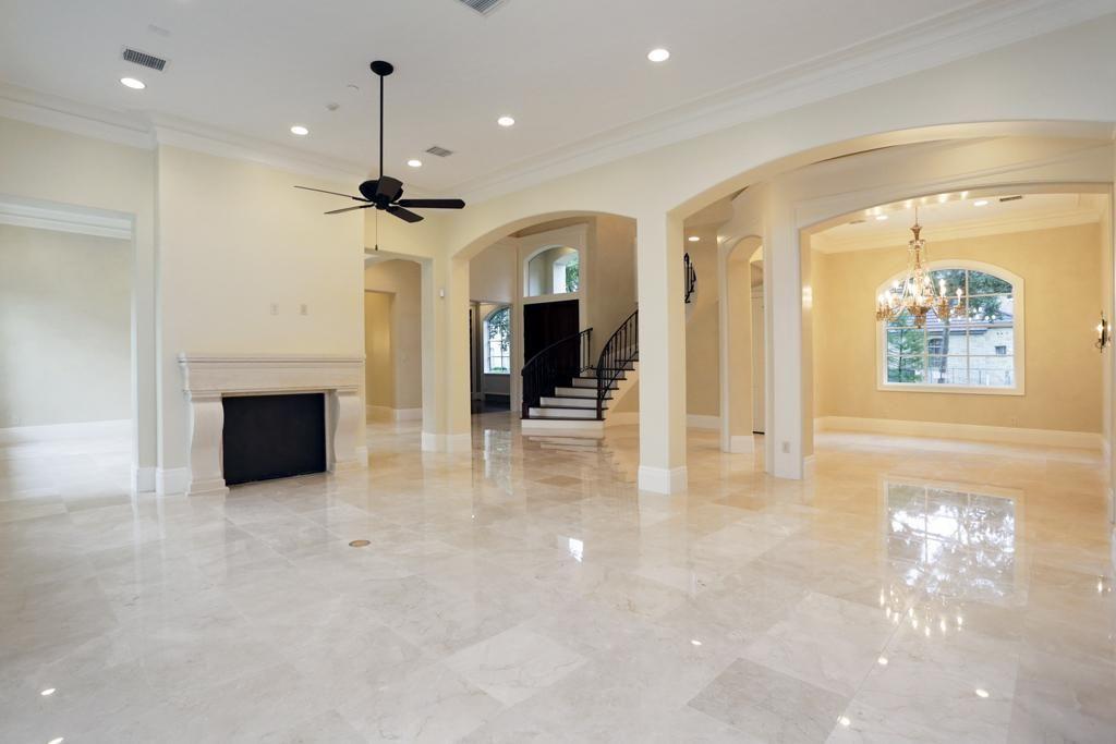 233 Merrie Way Ln Houston Tx 77024 High Ceiling Window Wall Marble Floor