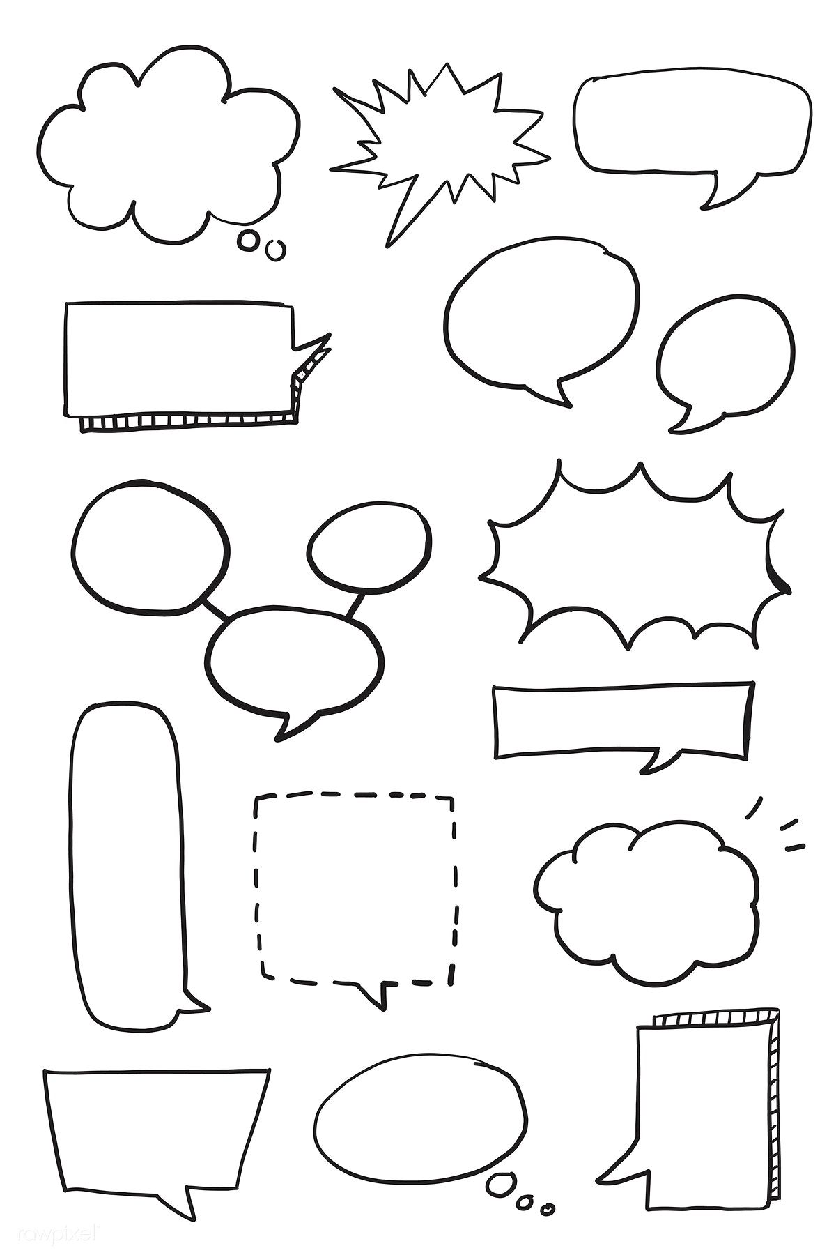 Download premium vector of Hand drawn speech bubble doodle