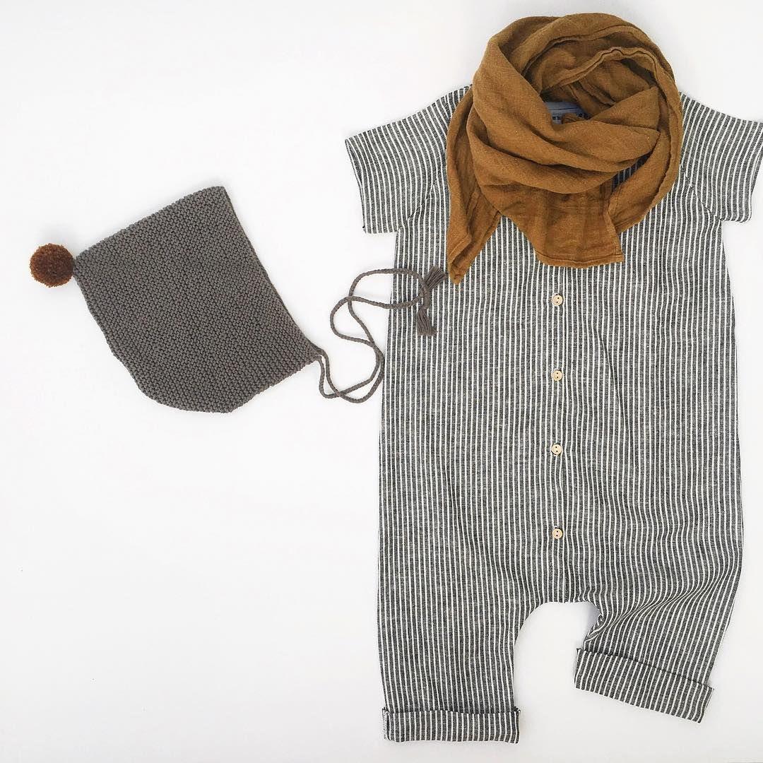 "Photo of Wool.& Cie on Instagram: ""Nos petits essentiels d'été { Avec notre Combi N version ligne #woolandcie , Le petit Beguin à pompon by @aaamaaaliaaa } #handmadewithlove…"""