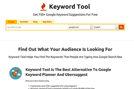 Keywordtool Io Keyword Planner Keyword Suggestion Adwords