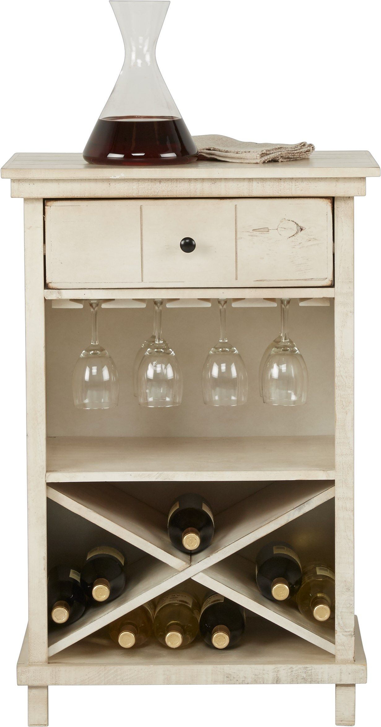 Havenwood White Wine Cabinet Wine Cabinets Cabinet Bottle Storage