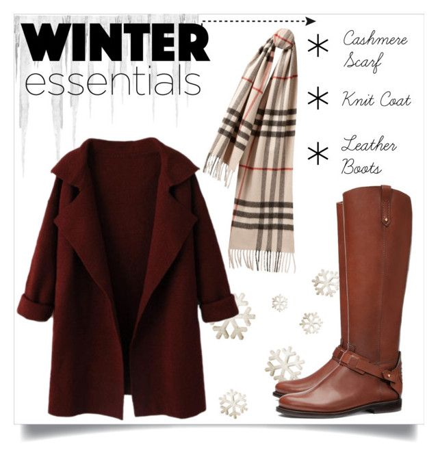 """""""❅ Winter Essentials ❄"""" by lyricalbuddha ❤ liked on Polyvore featuring Burberry, Tory Burch, contestentry, coldweather, winterfashion, warmandcozy and winteressentials"""