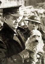 Rspca Inspector Holding Terrier After Rescuing From A Bomb Site Circa 1940 Presents For Men London Coffee Shop World War Two