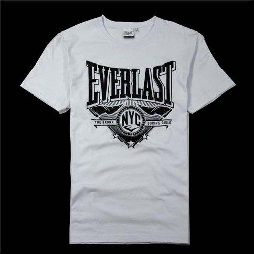 Everlast Logo T-Shirt Mens White Sportswear Athleisure Top Tee Shirt