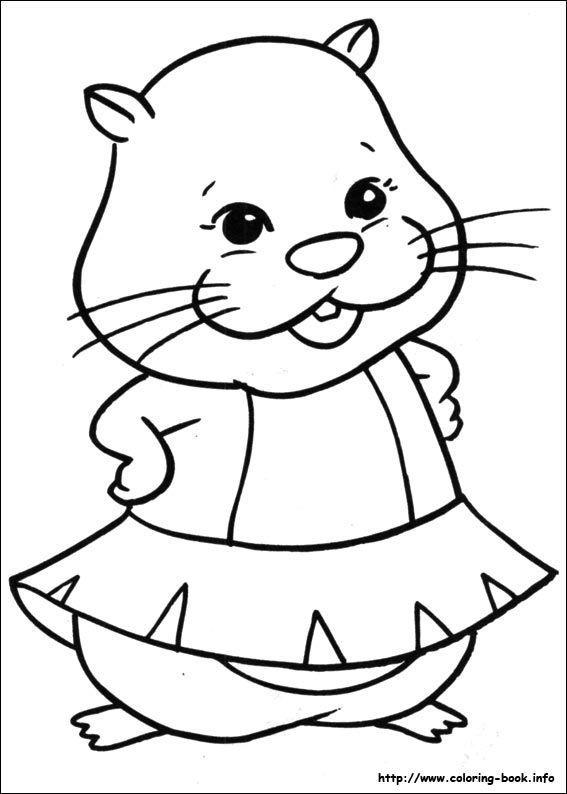Zhu Zhu Pets coloring picture