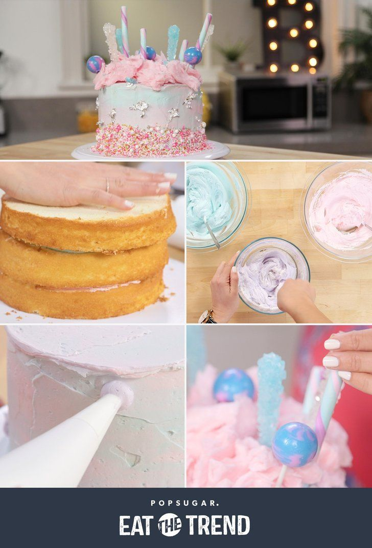Learn How To Make This Whimsical Cotton Candy Cake Recipe