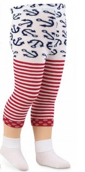 0f4784bbac0 Jefferies Socks Baby Sailor Girl Capri RED Stripes Americana Nautical 6-24  mo  Jefferies  CapriTights