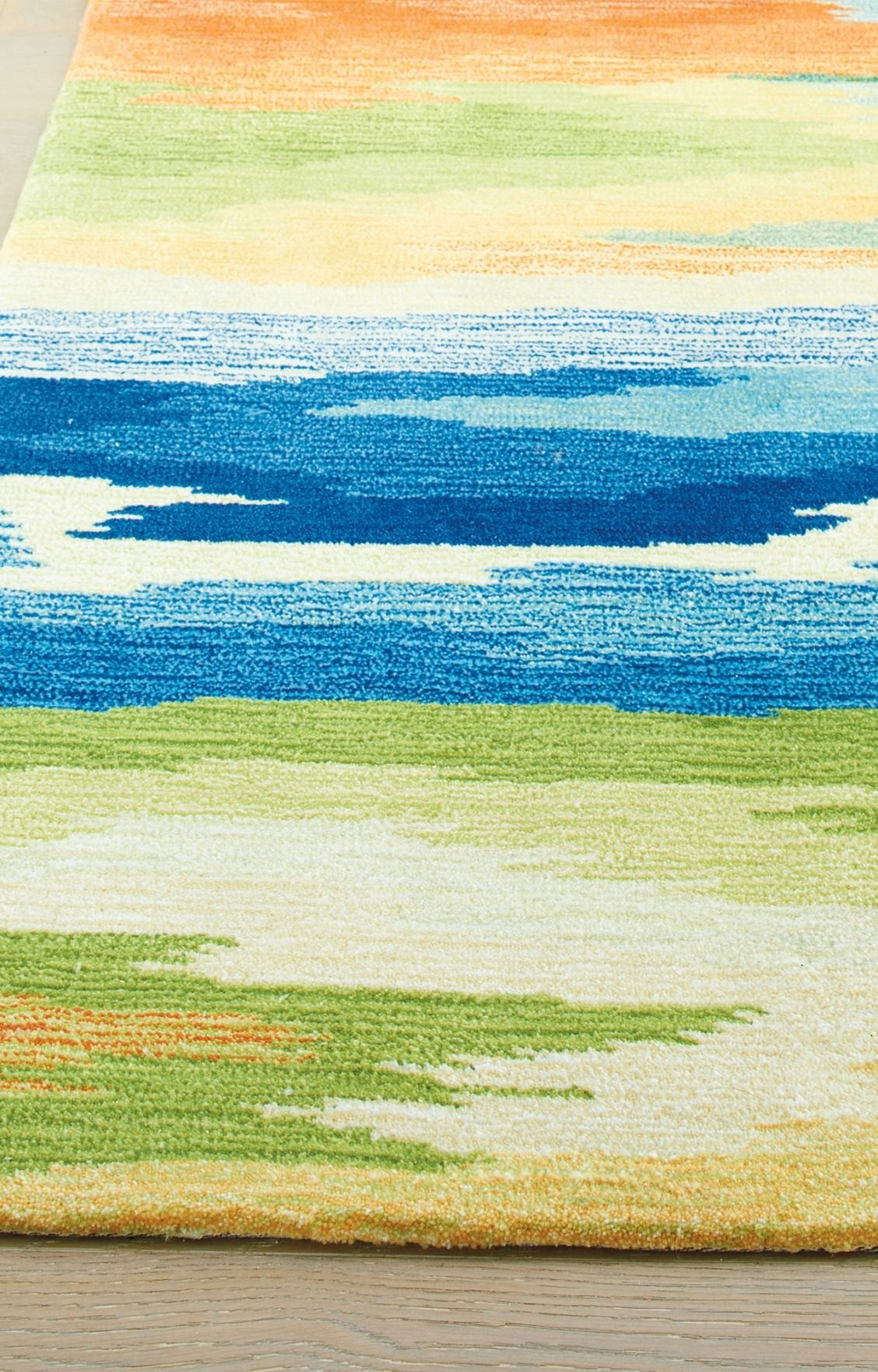 Parlin Contemporary Watercolor Area Rug By Nicole Miller Multi