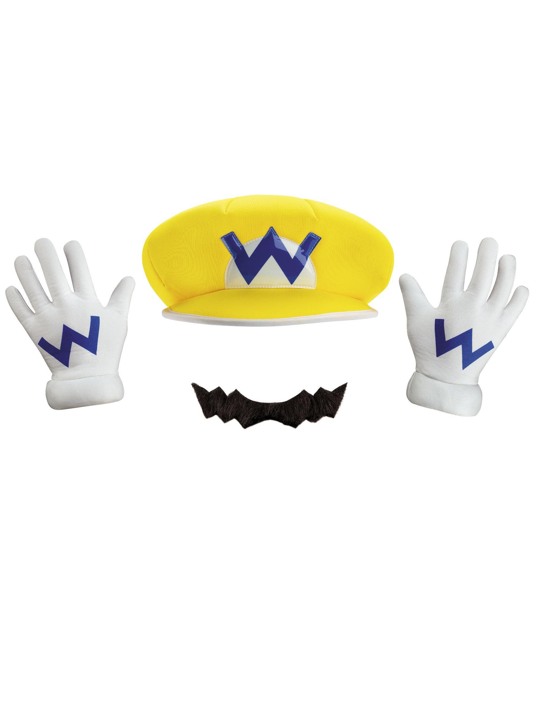 1a1fcb3769bafd Wario-Accessoire-Set für Kinder Nintendo®-Lizenzartikel , günstige  Faschings Accessoires &