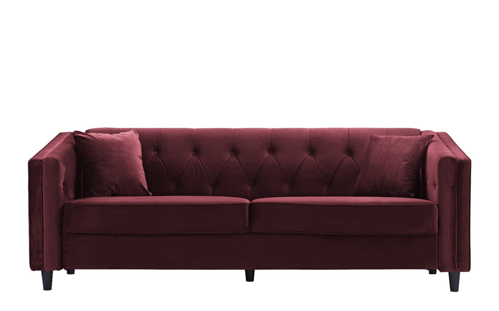 Tufted Button Sofa Big Sofas Adelia Victorian Velvet With Accents Products