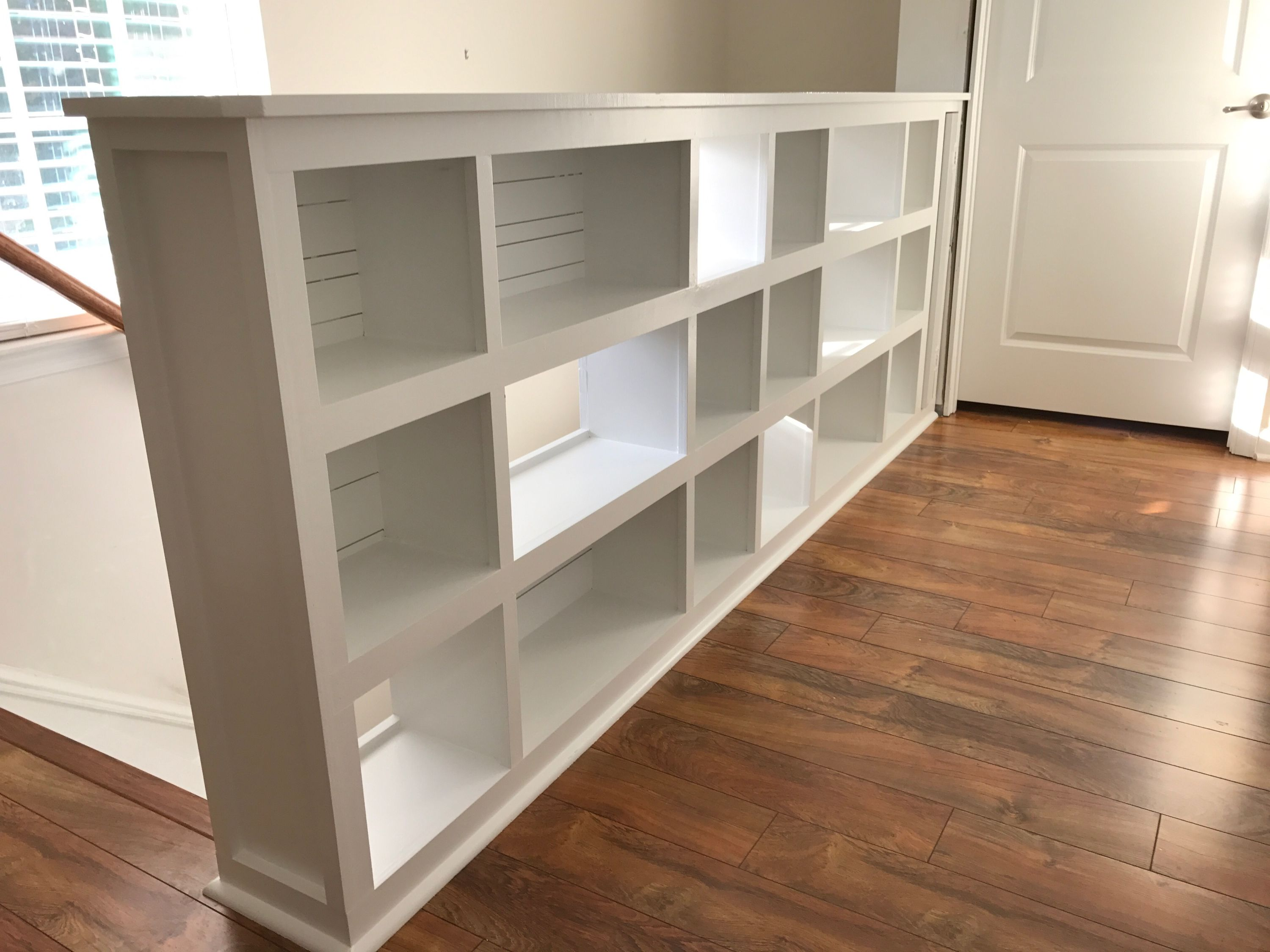 Bookcase Stair Railing Our New Built In Book Cases New Home In 2019 Bookcase